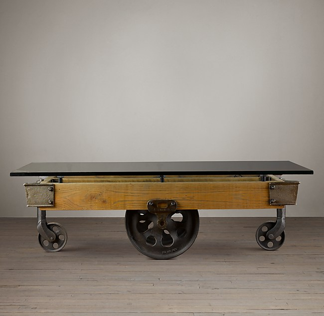 Cart Coffee Table Restoration Hardware.Glass Top Furniture Factory Cart