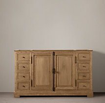 French Casement Single Extra-Wide Vanity Base
