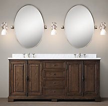 French Casement Double Vanity