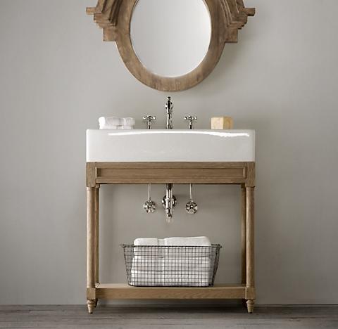 Weathered Oak Washstand Bath Collection