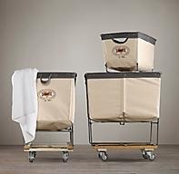 Laundry Cart Rectangular Collection Natural