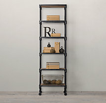 Dutch Industrial Narrow Single Shelving