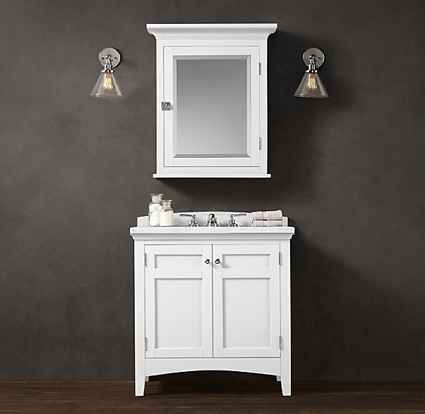 Restoration Hardware Bathroom Vanity Knockoff: Cartwright Single Vanity Sink