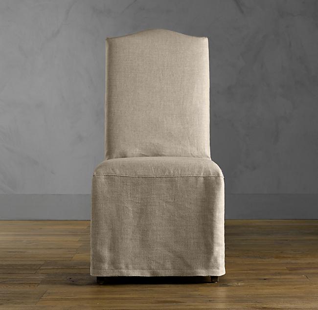 Hudson Camelback Slipcovered Side Chair