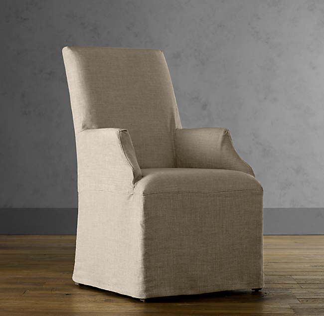 Hudson Parsons Slipcovered Chair With Slipcover Set Of 2 Arm And 4 Side