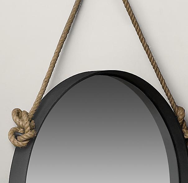 Brand-new Iron and Rope Mirror LK34
