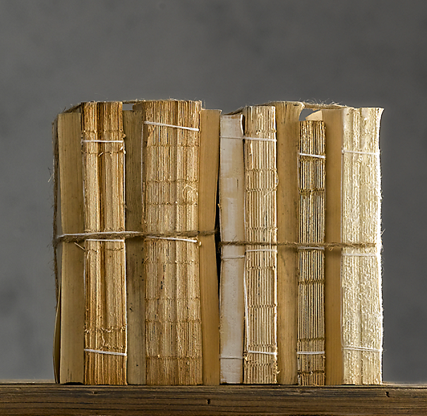 Antiqued Uncovered Book Bundles