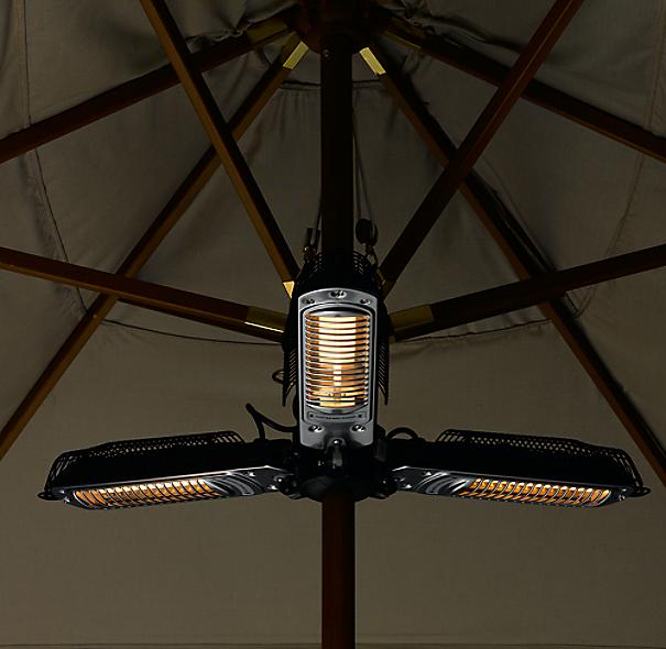 Umbrella halogen heater for Restoration hardware outdoor umbrellas