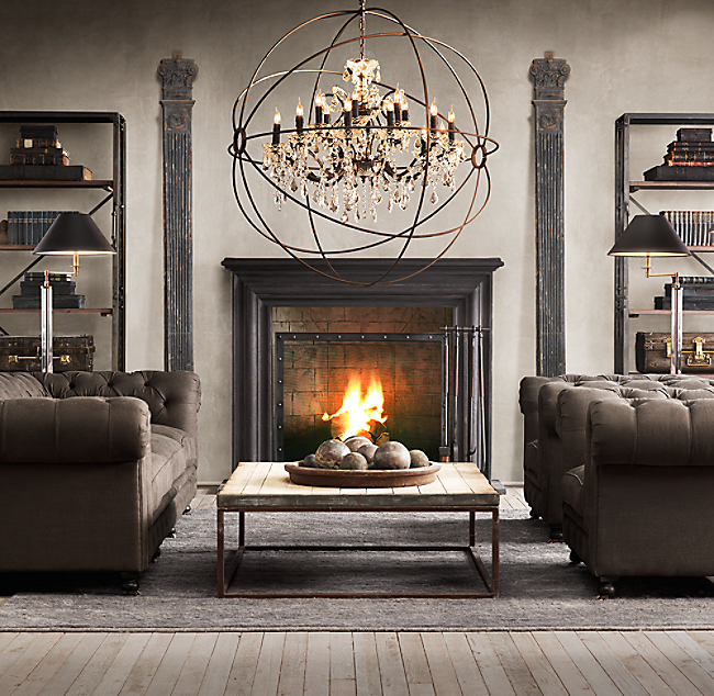 Restoration Hardware Sofa Collection: Restoration Hardware Style Sofa The Wells Collection