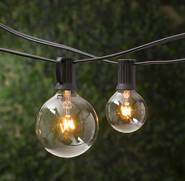 Outdoor String Lights Hardware: Party Globe Light String
