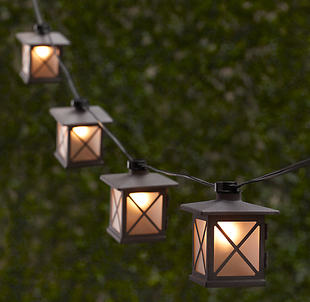 Outdoor String Lights Hardware: Avignon Light String