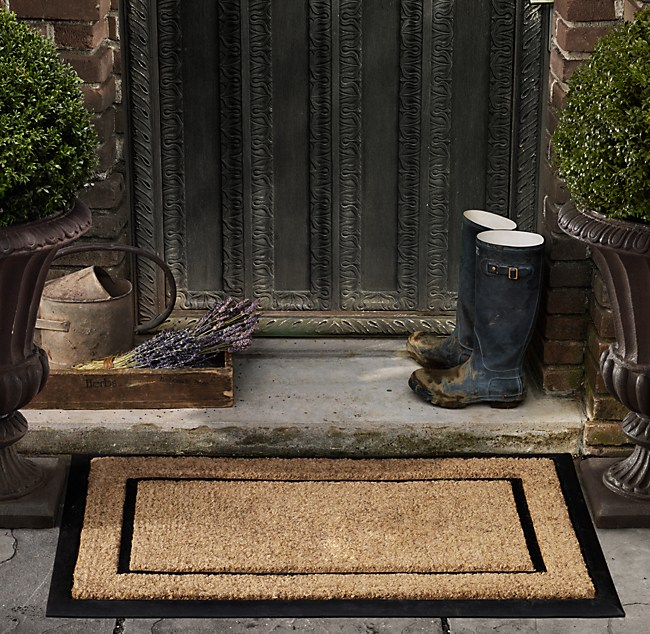 with rubber frame doormat