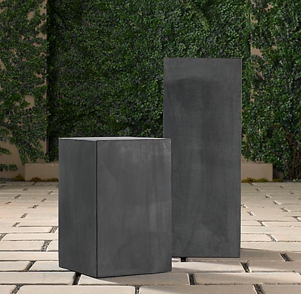 Zinc Cube Pedestal