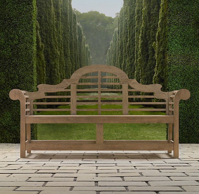 Weathered Teak Benches Custom-Fit Outdoor Furniture Covers