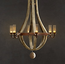 Outdoor Wine Barrel Chandelier