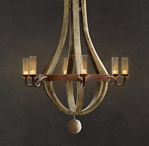 All outdoor lighting rh outdoor wine barrel chandelier aloadofball Images