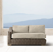 Provence Luxe Two-Seat Left/Right-Arm Sofa Cushions