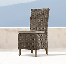 Provence High Back Side Chair Cushion