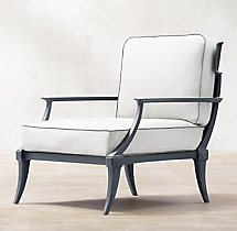 Klismos Luxe Lounge Chair