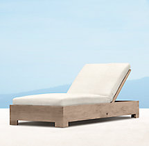 Belvedere Chaise - Weathered Teak