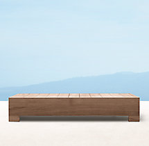 Belvedere Rectangular Coffee Table - Weathered Teak