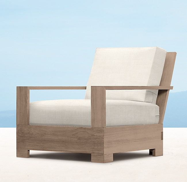 luxe lounge chair weathered teak