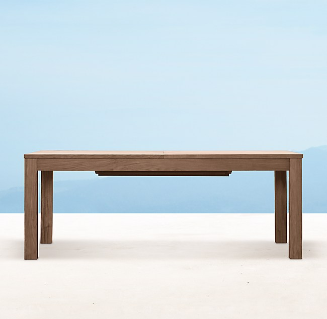 Extension Dining Table Weathered Teak
