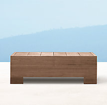 Belvedere Side Table - Weathered Teak