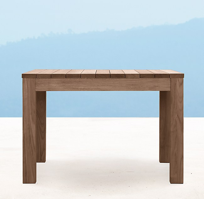 Square Dining Table Weathered Teak