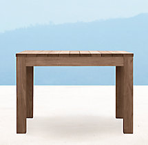 Belvedere Square Dining Table - Weathered Teak