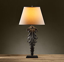 Acanthus Leaf Artifact Table Lamp