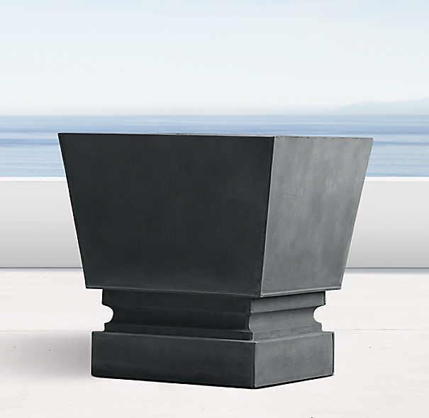 Pedestal Sheet Metal Cube Planter