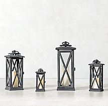 Avignon Square Lantern – Weathered Zinc