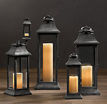 Savoy Square Lanterns - Weathered Zinc