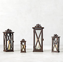 Avignon Square Lantern – Weathered Bronze