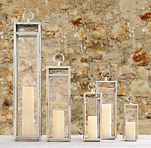 Santorini Square Lanterns - Polished Nickel