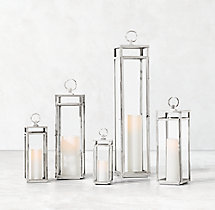 Santorini Lantern - Polished Nickel