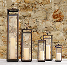 Santorini Square Lanterns - Weathered Bronze