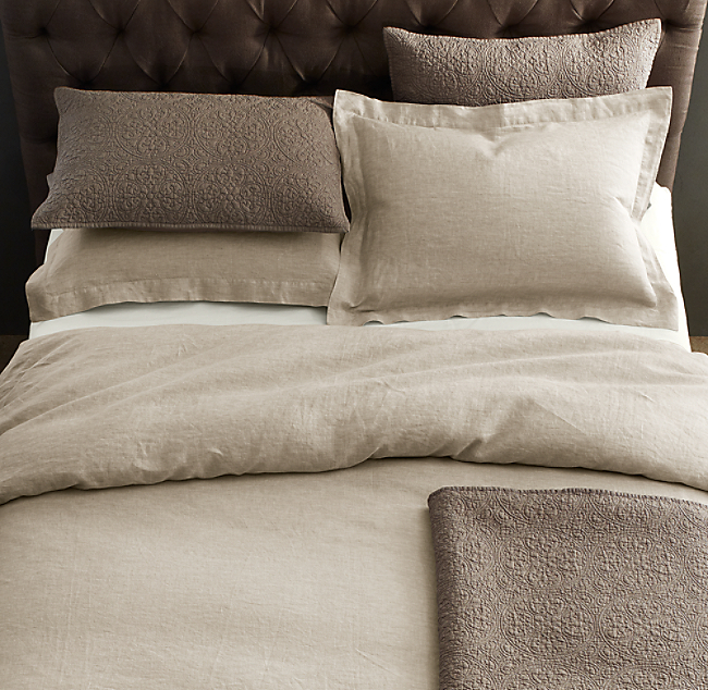 Find Many Great New Used Options And Get The Best Deals For Restoration Hardware Garment Dyed Linen Duvet Cover King Lavender At Online