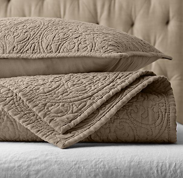 Vintage Washed Belgian Linen Quilt