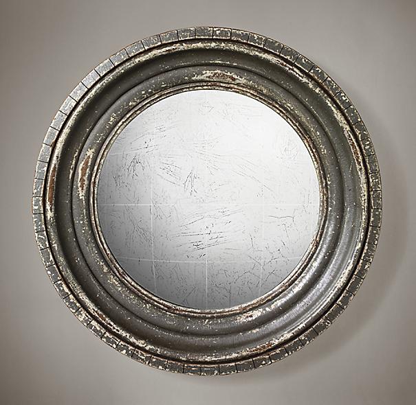 Madison Distressed Convex Mirror