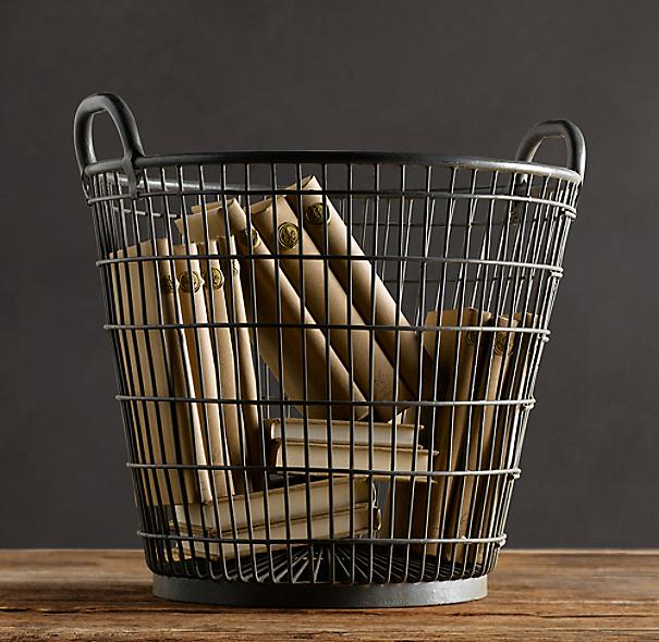 Schoolhouse Wire Basket
