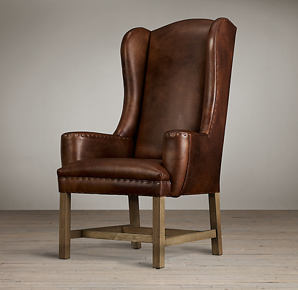 Belfort Wingback Leather Armchair