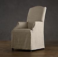 Hudson Camelback Slipcovered Armchair