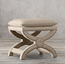 Toscane Upholstered Nailhead Stool