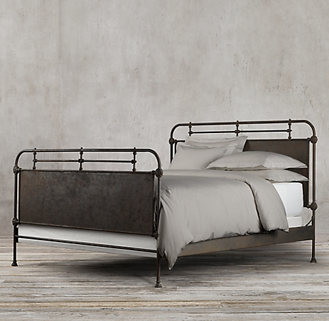 more sizes  French Acad mie Panel Bed With Footboard. French Academie Panel Bed Collection   Rust   RH