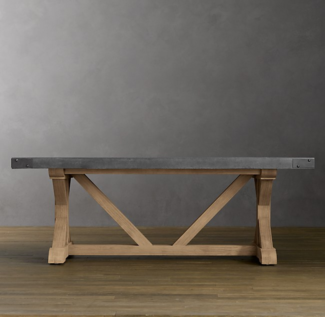 Concrete Rectangular Dining Table