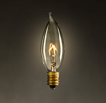 Flame Candelabra Incandescent Bulb (Set of 6)