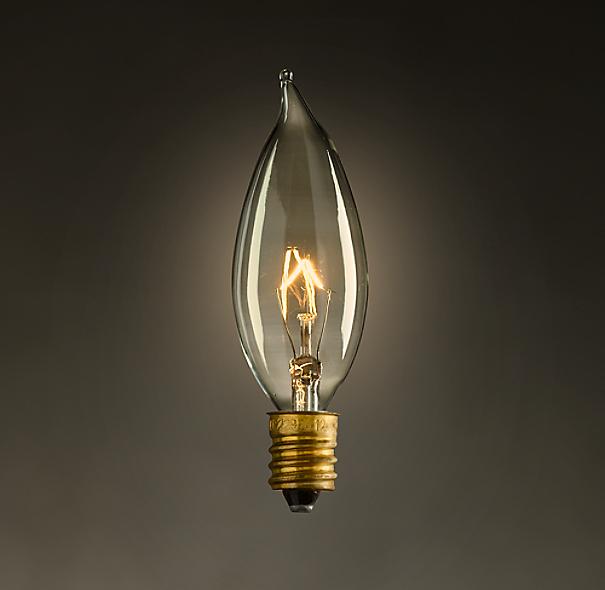 flame candelabra bulb set of 6. Black Bedroom Furniture Sets. Home Design Ideas
