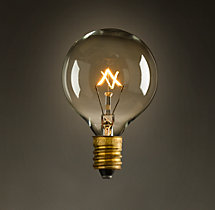 G16 Globe Candelabra Filament Incandescent Bulb (Set of 2)